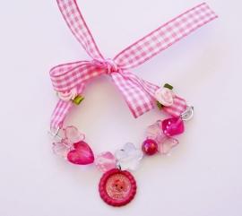 Strikarmbandje Lalaloopsy roze