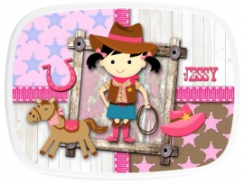 Broodtrommel Cowgirl