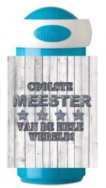 Mepal drinkbeker Coolste Meester denim
