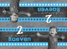 """Traktatiezakje kinderfeest schoolbord """"Raeven"""" met foto, set van 5 stuks"""