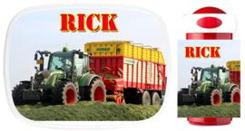 Set Mepal broodtrommel en drinkbeker traktor Rick