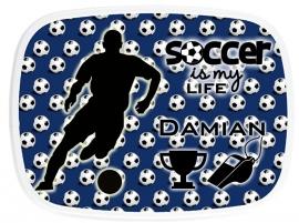 Broodtrommel Soccer (voetbal) is my life