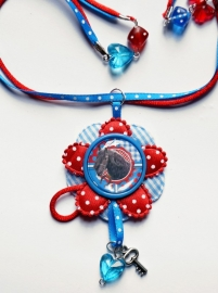 SPECIAL MADE ketting Horse, ketting extra special, zie foto`s!