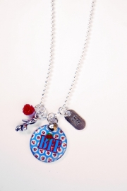 BFF Best Friends Forever Ketting (blue rose)