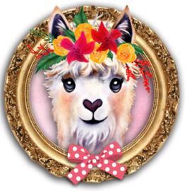 Strijkapplicatie Alpaca gold