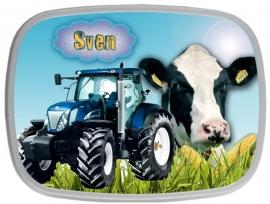 Broodtrommel Traktor en Koe