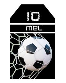Kinderfeest traktatie labels Voetbal Goal!, setje van 5 stuks