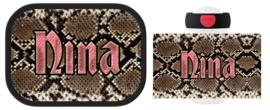 Mepal broodtrommel en drinkbeker Snake (slangenprint)