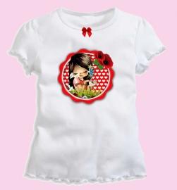 Hip meisjesshirt (biocotton) met applicatie Juul