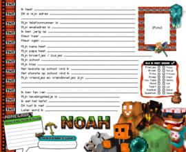 Vriendenboekje Minecraft New  met naam (en evt foto)