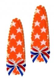 Koninklijke Haarspeldjes oranje ster met Hollands strikje