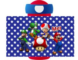 Set broodtrommel en drinkbeker Mario en Luigi Ster