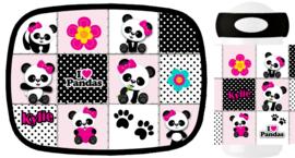 Set Mepal broodtrommel en drinkbeker Panda Patchwork
