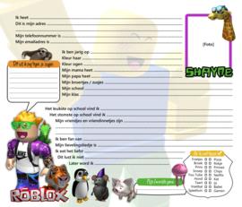 Vriendenboekje Roblox met naam (en evt foto)