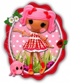 Strijkapplicatie Lalaloopsy Sweetgirl