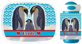 Set broodtrommel en beker Pinguins Bente