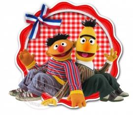 Strijkapplicatie Bert en Ernie