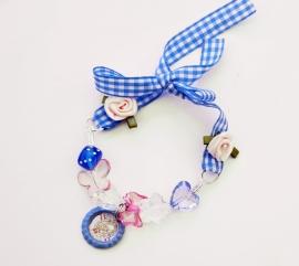Strikarmbandje Pip blauw