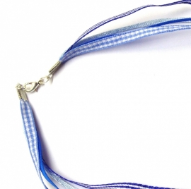 Special made ketting blauw