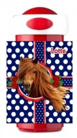 Drinkbeker Horse blauw