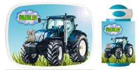 Set Mepal broodtrommel en drinkbeker traktor met hondje Merijn