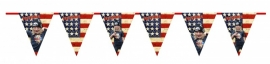 Kinderfeest vlaggenslinger USA
