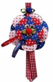 Broche Sweet flowers rood / wit / blauw