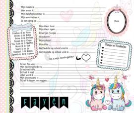 Vriendenboekje Unicorn Sweet met naam (en evt foto)