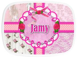 Broodtrommel Jamy pink