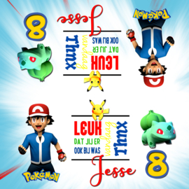 Kinderfeest traktatiezakjes Pokemon , setje van 6 stuks