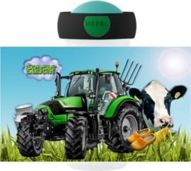 Mepal broodtrommel en drinkbeker Traktor Koe Deutz