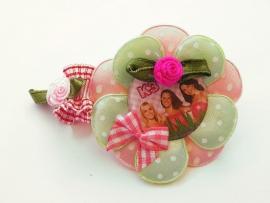 Elastisch armbandje roze met die leuke Belgische meiden!