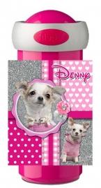 Set broodtrommel en drinkbeker Chihuahua pink glitter