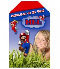 Kinderfeest traktatie labels Super Mario Bros, setje van 5 stuks