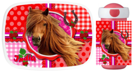 Set Mepal broodtrommel en drinkbeker Beautiful Horse