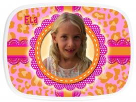 Broodtrommel met foto Ela!