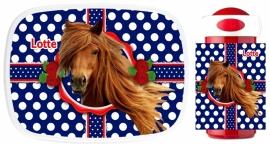 Set broodtrommel en drinkbeker Horse