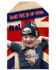Kinderfeest traktatie labels  British Flag, setje van 5 stuks