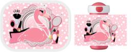 Mepal broodtrommel en drinkbeker Flamingo Diva