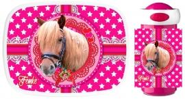 Set Mepal broodtrommel en drinkbeker Cute Horse Femke