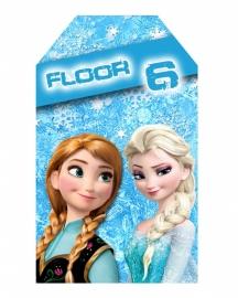 Kinderfeest traktatie labels Frozen, setje van 5 stuks