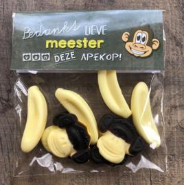 """Snoepzakje juf /meester """"van een apekop"""""""