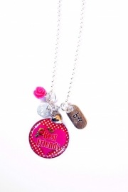 BFF Best Friends Forever Ketting (rood/fuchsia)