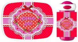 Set Mepal broodtrommel en drinkbeker Bedankt Lieve Juf sweet pink