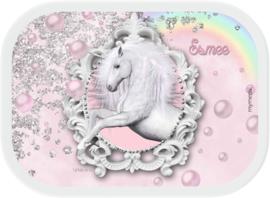 Mepal broodtrommel en drinkbeker Unicorn glitter