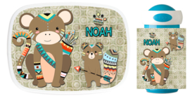 Set broodtrommel en drinkbeker Monkey squirrel