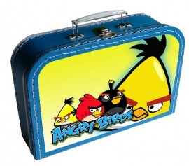 Kinderkoffertje Angry Birds cool blauw