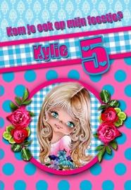 Kinderfeest uitnodiging Kylie, setje van 5 stuks