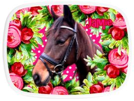 Mepal broodtrommel paard Jamie roses
