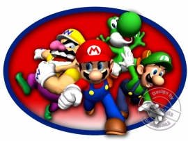 Strijkapplicatie Mario Bros & Friends